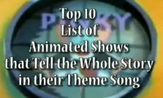 MarzGurl: MarzGurl: Top 10 List of Animated Shows that Tell The Whole Story in their Theme Song