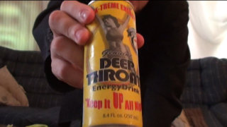 Brad Jones: Brad Tries Deep Throat Energy Drink
