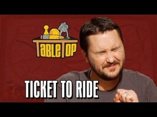 TableTop: Ticket to Ride: Wil Wheaton, Colin Ferguson, Anne Wheaton, and Amy Dallen. TableTop ep. 4